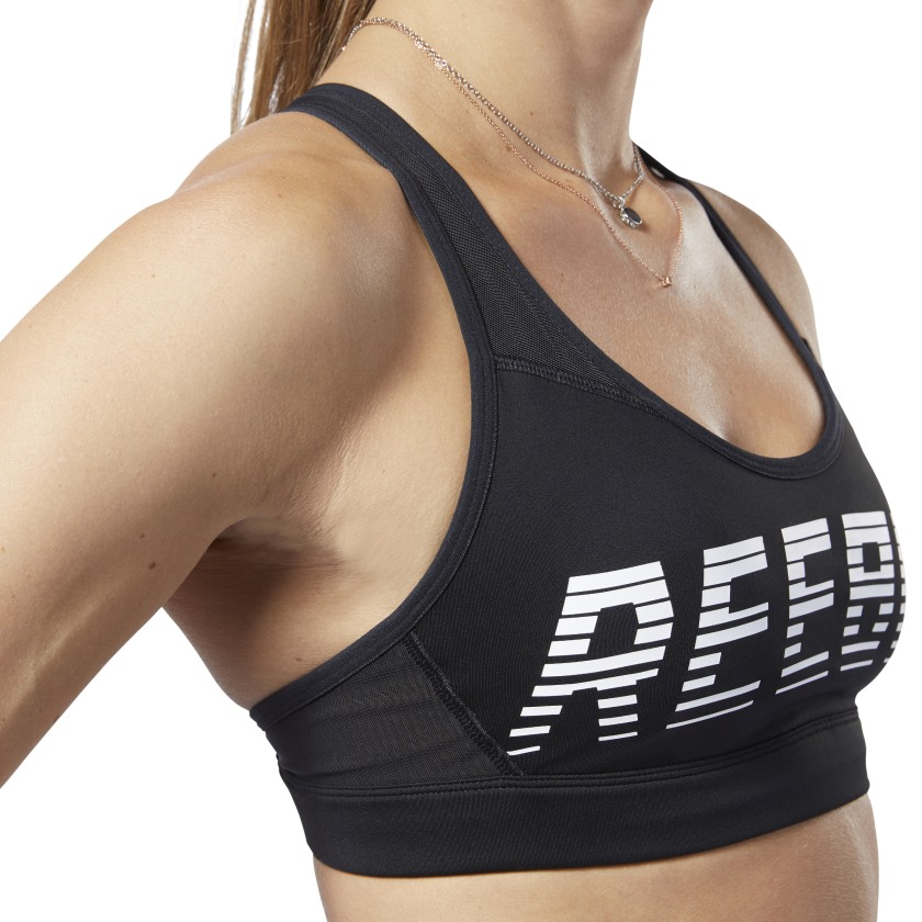 Reebok Women/'s Hero Strappy Medium-Impact Padded Bra