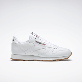 Reebok Classic Leather Trainers In White White Sneakersy