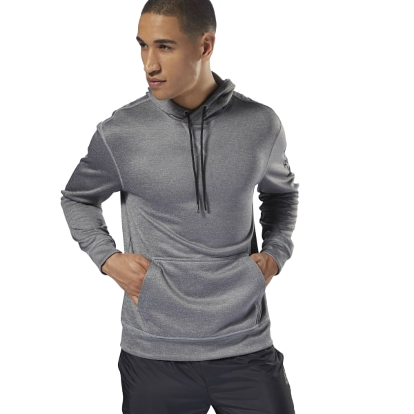 Reebok Workout Ready Poly Fleece Hoodie - Grey  c6b9d8b58
