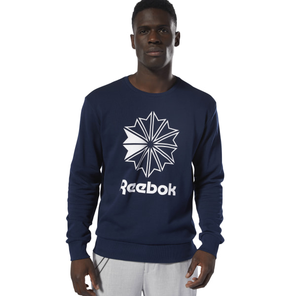 Sudadera cuello redondo Classics French Terry Big Iconic Collegiate  Navy White DT8121 0c9de838d459