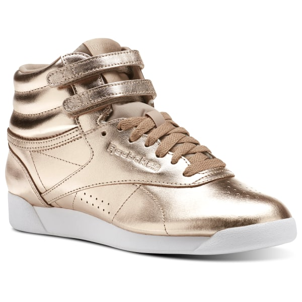 cab0b6421d9 Reebok Freestyle Hi Metallic - Gold