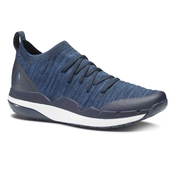 2c213c552d82a1 LES MILLS Circuit Trainer Ultraknit Collegiate Navy Washed Blue White CN5949