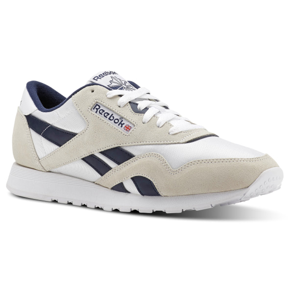 sports shoes e7b64 1b5de reebok classic leather nylon white