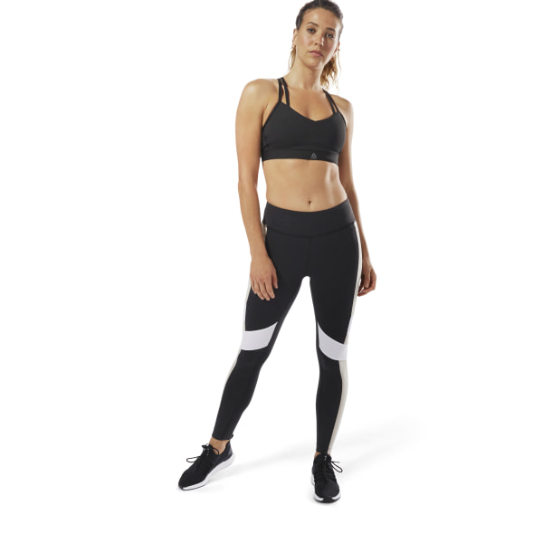 Legging Reebok Lux - Color Block Black   Parchment D94131 8b0c6c8acd2