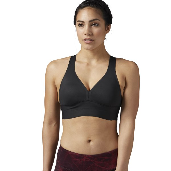 f248a5c647 Reebok Combat Smoothgrip Sports Bra - Black