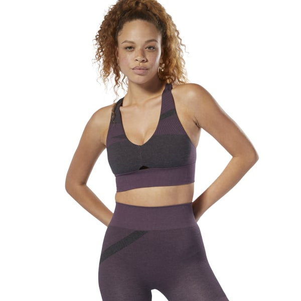 be2c5928fb Reebok Studio Nature X Seamless Bra - Purple