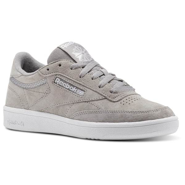 4ace7140035 Reebok Club C 85 Trim Nubuck - Grey