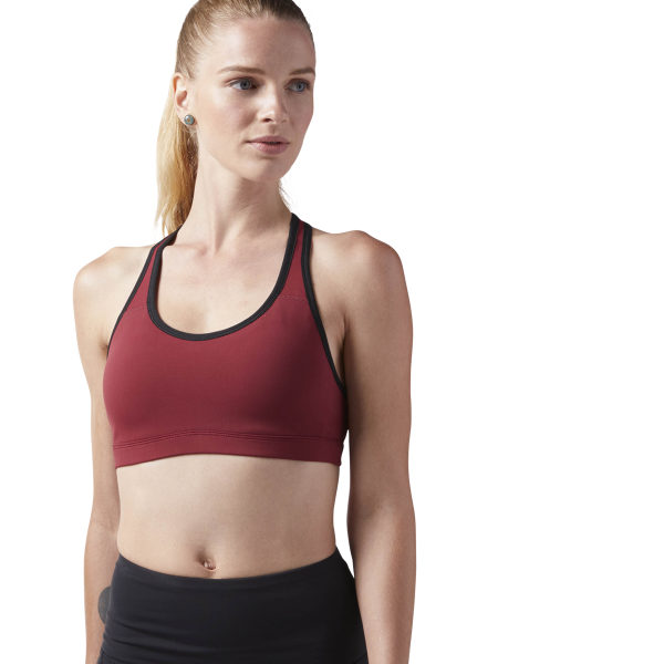 c6742b01d2 Reebok Hero Racer Padded Sports Bra - Red