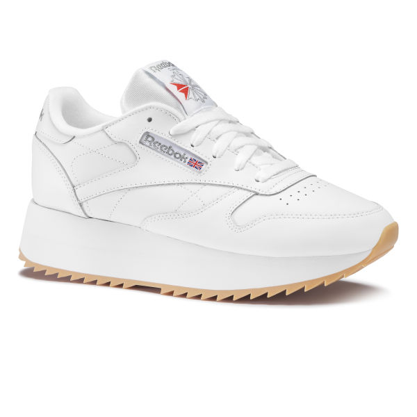 db2e18c3310df Classic Leather Double White Silver Met Gum DV6472