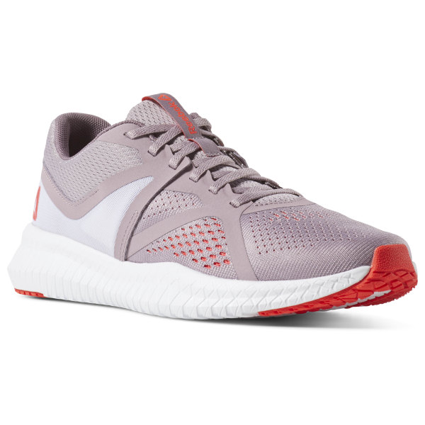 c54880d3fab91 Reebok Flexagon Fit Lilac Fog   Noble Orchid   White   Neon Red CN6348