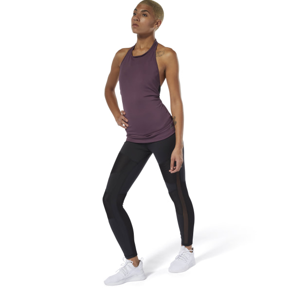 Reebok Cardio Lux High-Rise Tights - Black  cb32985f1ead