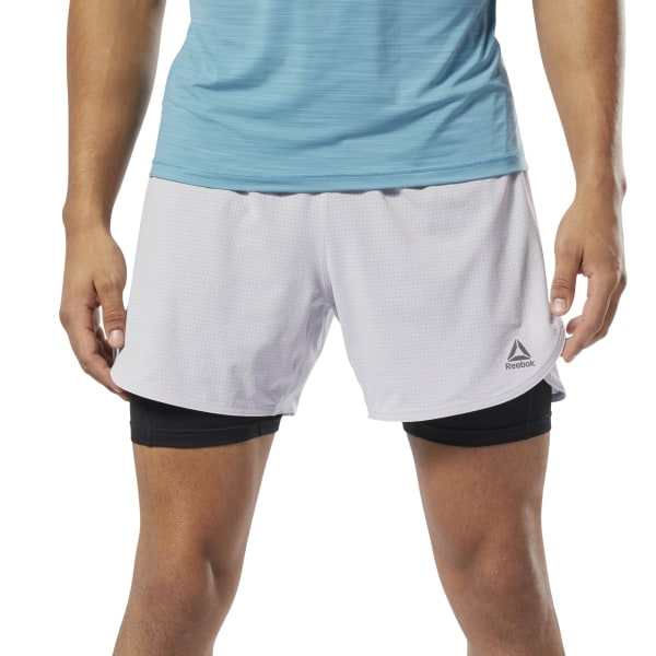 3b164310fc060 Reebok Running Epic Two-in-One Shorts - Grey