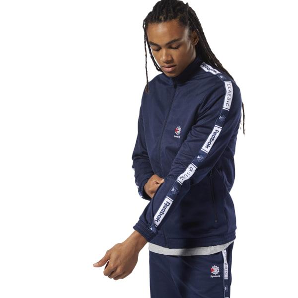 2e13775d5d60a Reebok Classics Taped Track Top - Blue