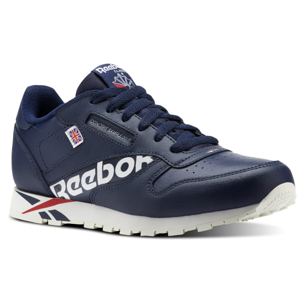 8bc5e3a70a5bb8 Reebok Classic Leather Navy Blue - Reebok Of Ceside.Co