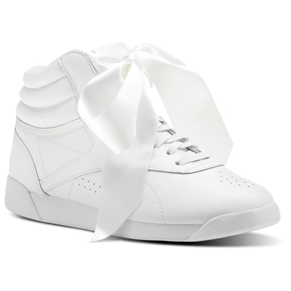 a6b692f941ebd0 Reebok Freestyle Hi Satin Bow - White