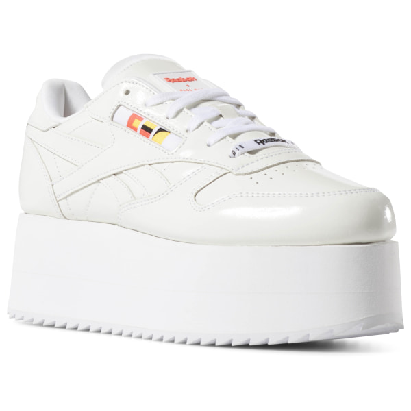Classic Leather Triple Platform x Gigi Hadid White Neon Red Black DV4110 f5e1713f2130