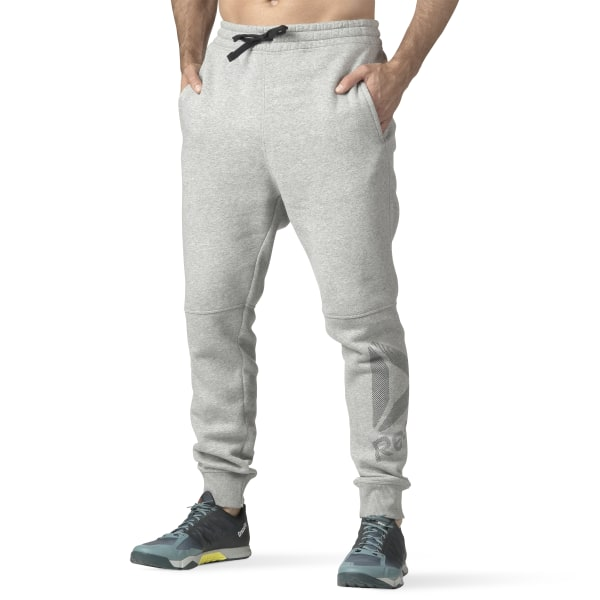 b61aa5148eab Workout Ready Big Logo Cotton Pant Medium Grey Heather B49896