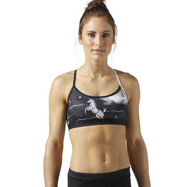 aacad68e49 Reebok CrossFit Strappy Sports Bra - Black