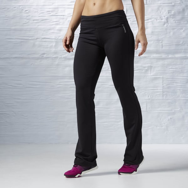 Reebok Workout Ready Fitted Bootcut Pant - Black  c00462b080360