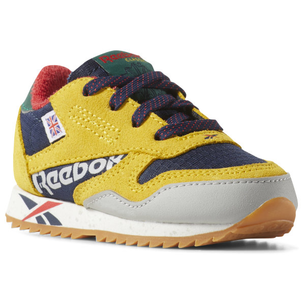 3e8e61cdab0f Reebok Classic Leather Ripple Altered - Toddler - Toxic Yellow ...