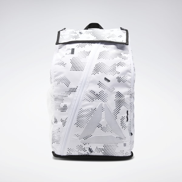 78ed79303eefd5 Reebok Active Enhanced Graphic Backpack - White