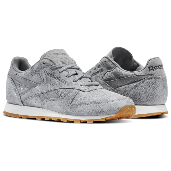 Reebok Classic Leather Clean Exotics - Grey  e0bc7c7b4