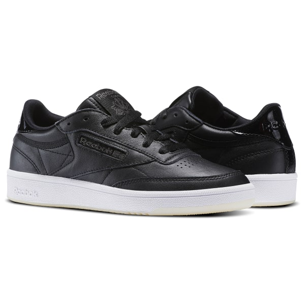 63a6c96094505 Reebok Club C 85 Black Leather - Reebok Of Ceside.Co