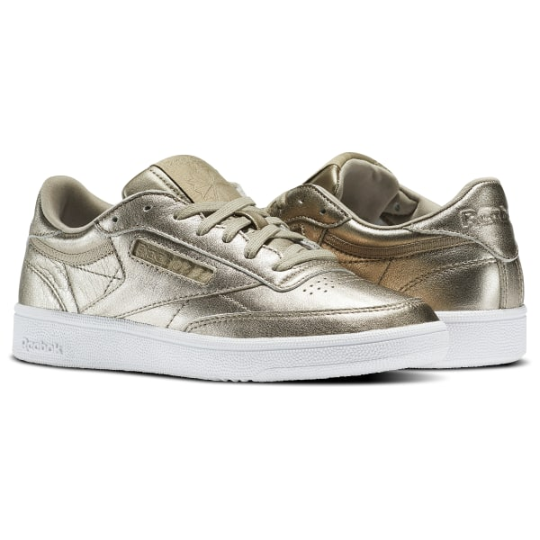 8a7e421f2 Club C 85 Melted Metals Gold   Pearl Met-Grey Gold   White BS7901