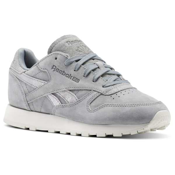 deb8febb4f4b0 Reebok Classic Leather Shimmer - Grey