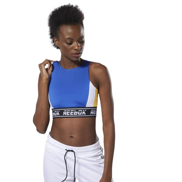 be11a60a54 Reebok WOR Meet You There Bralette - Blue