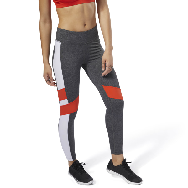 Legging Reebok Lux - Color Block Dark Grey Heather DN5896 bcb9a2f127d