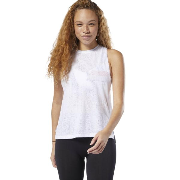 c3b39d09f967ee Reebok Burnout Tank Top - White