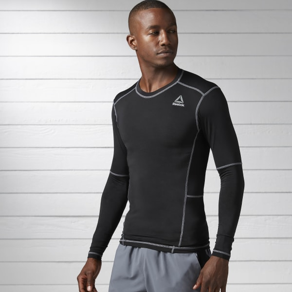 e2b3e7fbdb51 Reebok Work Out Ready Compression Long Sleeve Shirt - Black ...