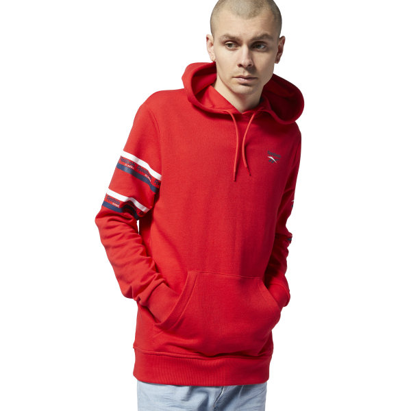 ff31b9a27b76 Reebok Classics All Over Vector Hoodie - Red