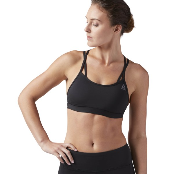 ba9c84f30e029 Reebok Hero Strappy Padded Bra Black CV4440