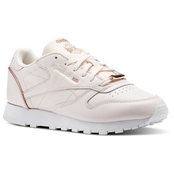 cde4fb59ade Tenis Classic Leather HW PALE PINK ROSE GOLD WHITE BS9880