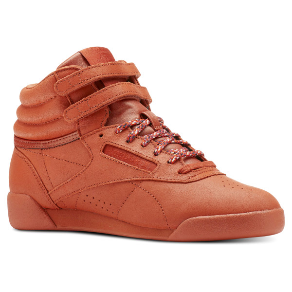ce97075182fad Reebok Freestyle Hi - Grade School - Brown
