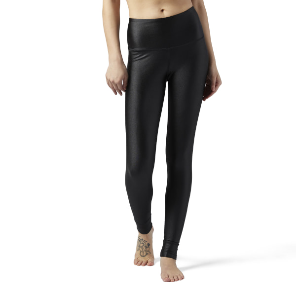 c83f07f92ad Reebok Metallic High Rise Leggings - Black