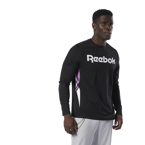 73ae7c9838ac Reebok Classics Vector Long Sleeve Tee - Black