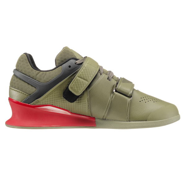 Reebok Legacy Lifter Hunter Green Coal Primal Red Chalk BS8216 65919e51b