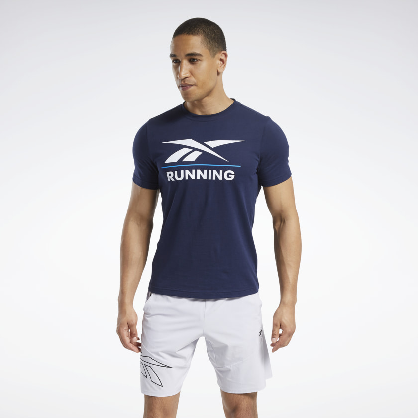 Reebok Running T-Shirt - Blue | Reebok GB