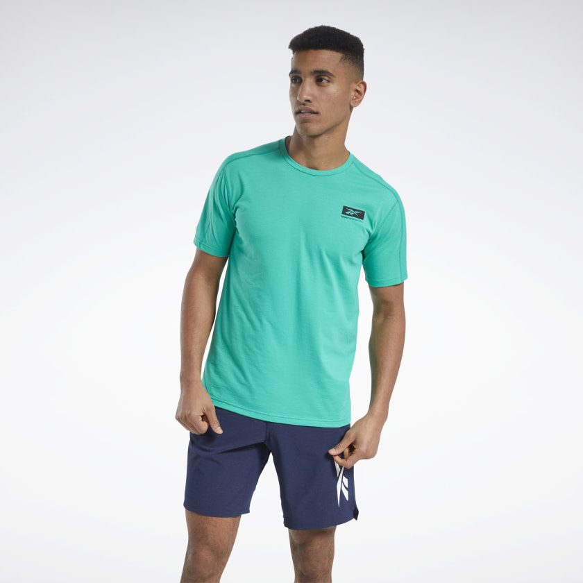 Reebok Speedwick Graphic Move T-Shirt - Green | Reebok GB