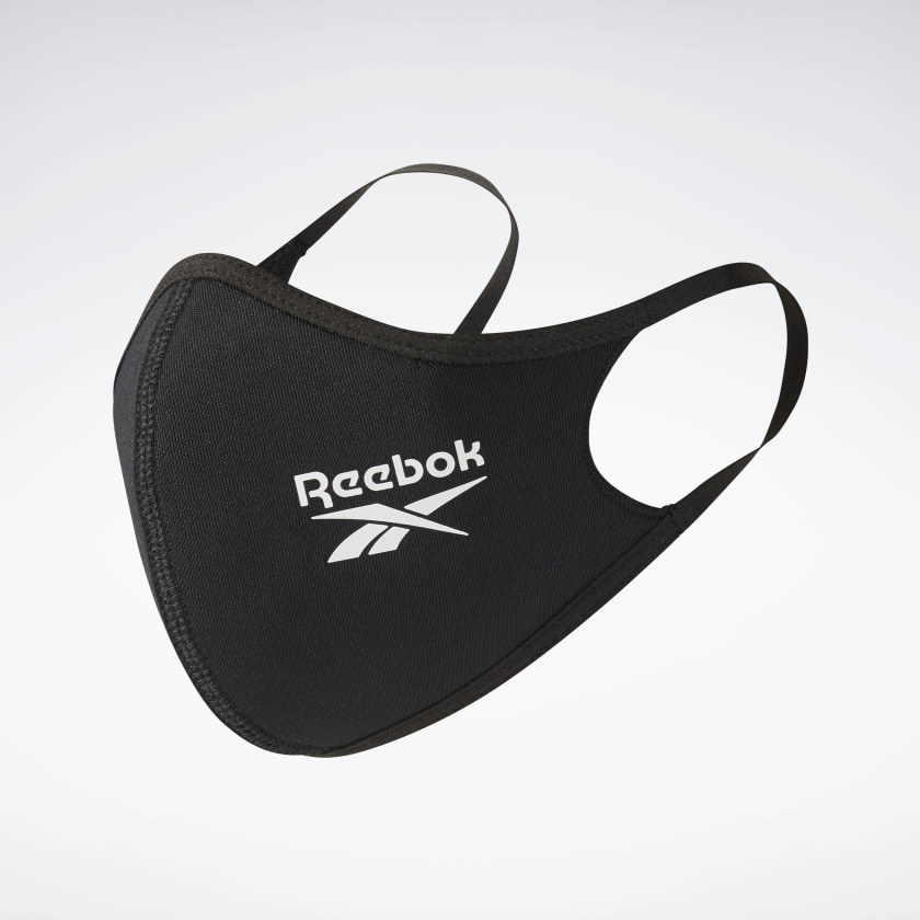 3-Pack Reebok Face Covers XS/S (Black)