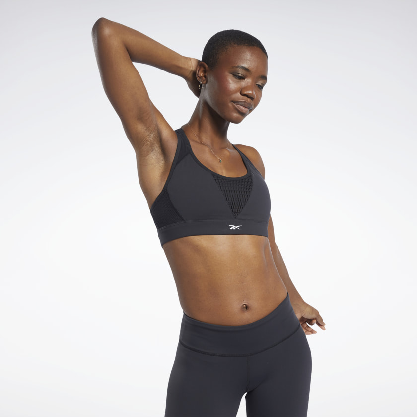 Reebok Hero Medium-Impact Racer Bra - Black | Reebok GB