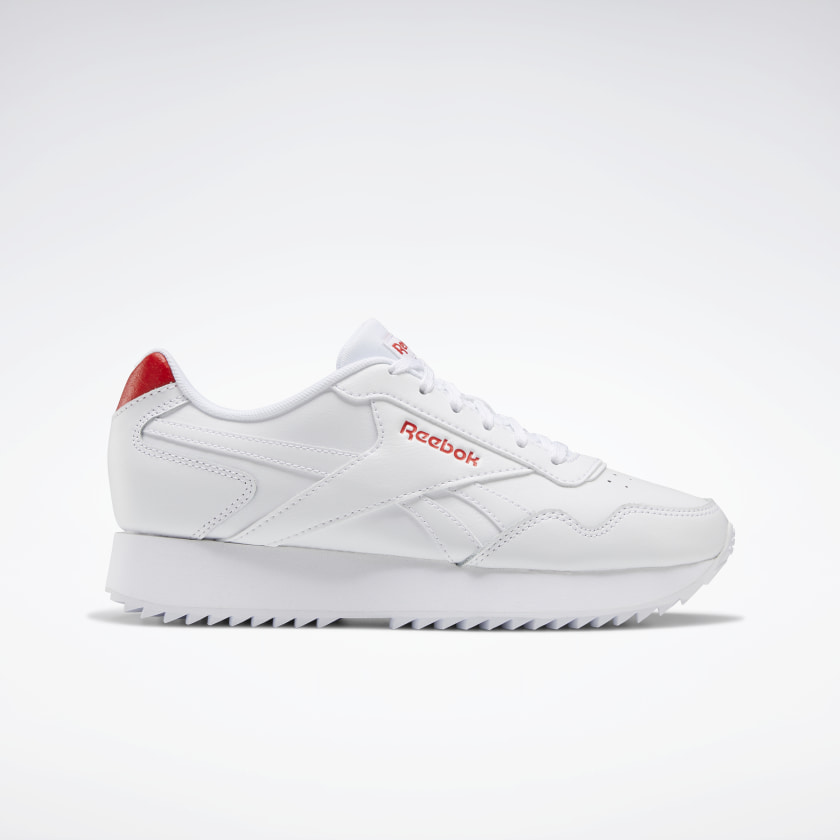 Reebok Royal Glide Ripple Double Shoes - White | Reebok GB
