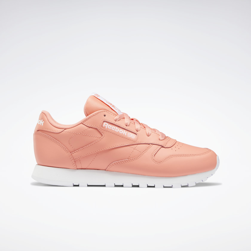 Reebok Classic Leather Shoes - Red   Reebok GB