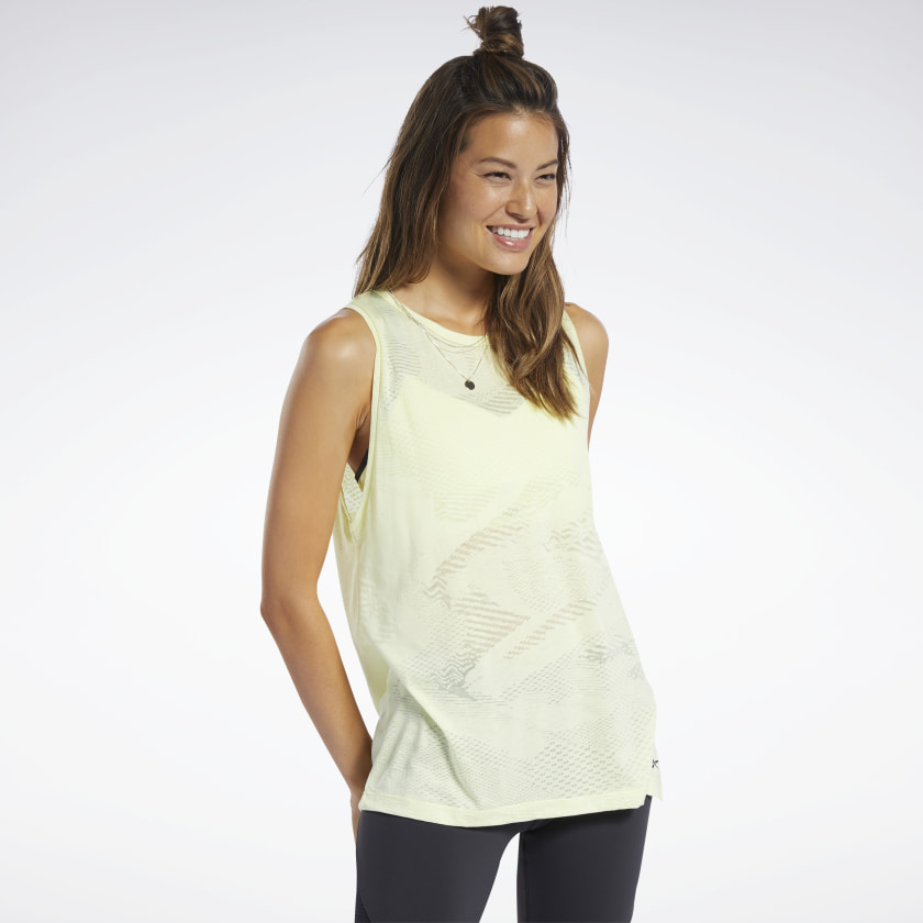Reebok Burnout Tank Top - Yellow | Reebok GB