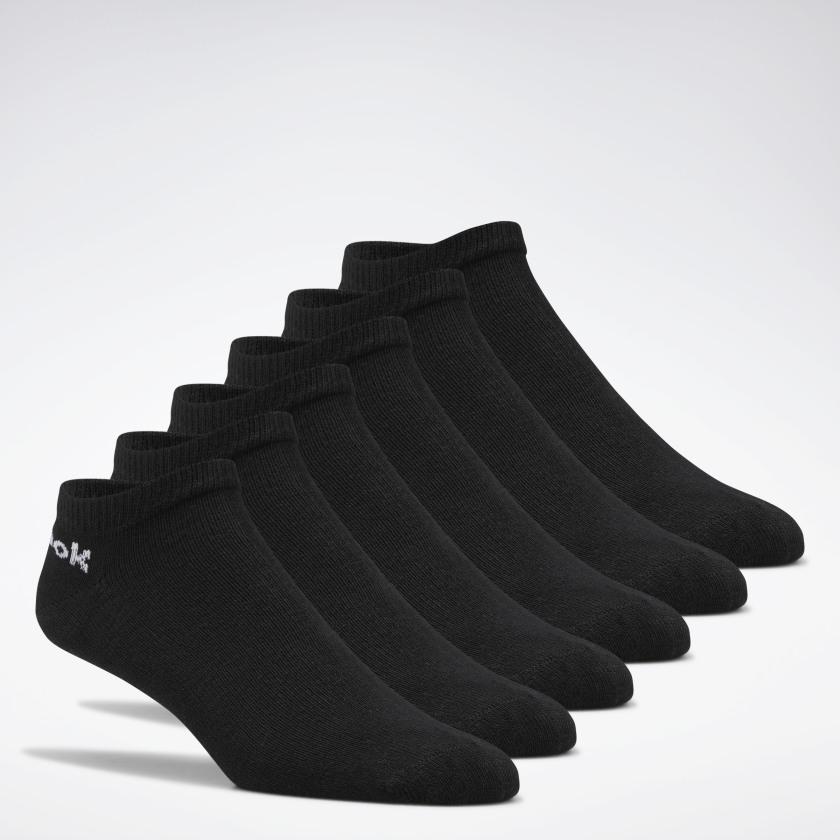 Reebok Active Core Low-Cut Socks 6 Pairs - Black | Reebok GB