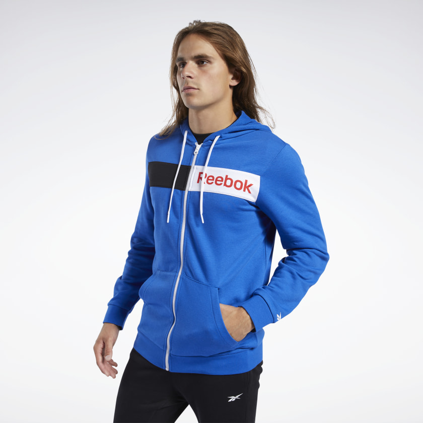Reebok Training Essentials Linear Logo Hoodie - Blue | Reebok GB