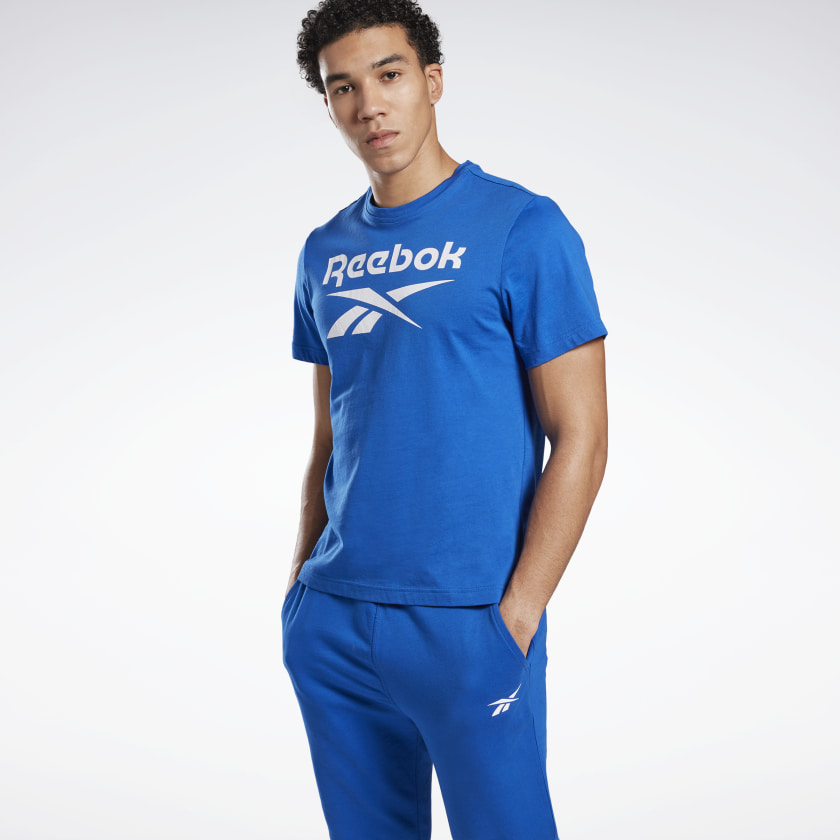 Reebok Graphic Series Reebok Stacked Tee - Blue | Reebok GB